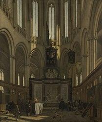 עמנואל דה ויטה: The Tomb of Michiel de Ruyter in the Nieuwe Kerk, Amsterdam