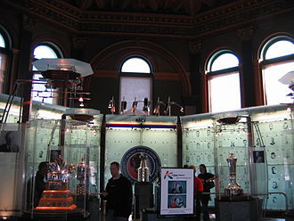 Hockey Hall of Fame - The Great Hall features portraits of every inductee, and displays all of the active NHL trophies