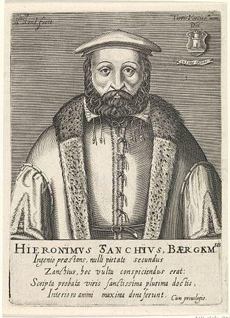 Girolamo Zanchi - Portrait by Hendrik Hondius I