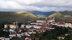 Panorama of the Ouro Preto Historical Centre