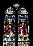 Holy Family Catholic Church (Oldenburg, Indiana) - stained glass, loft, Saint Cecilia and King David.jpg