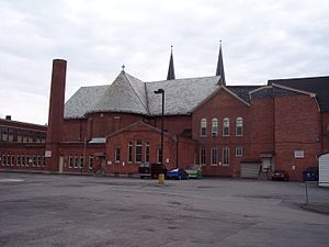 Holy Angels Church (Buffalo, New York) - Image: Holy angels church rear