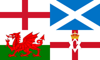 Flags of The UK nations.