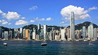 Central, Hong Kong - Image: Hong Kong Island Skyline 2009
