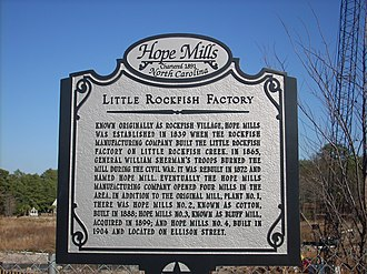 Hope Mills, North Carolina - Image: Hope Mills History