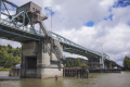 Hoquiam, WA — Simpson Avenue Bridge, view of downstream elevation from west bank of Hoquiam River (July 2016).png