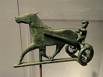 Folklore - Horse and sulky weathervane, Smithsonian American Art Museum