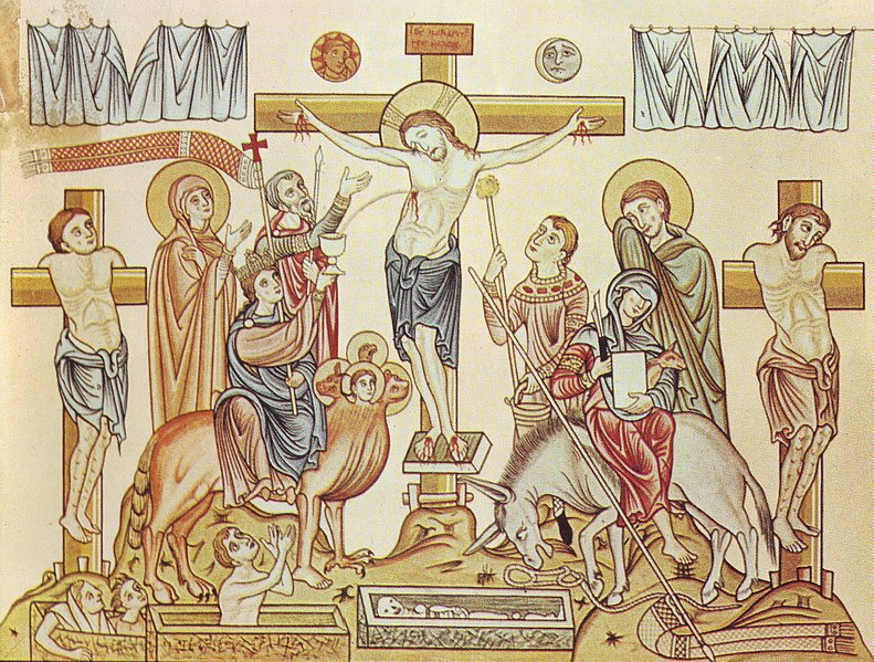 File:Hortus Deliciarum, Die Kreuzigung Jesu Christi.JPG