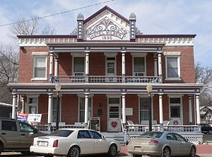 National Register of Historic Places listings in Saline County, Nebraska - Image: Hotel Wilber from E