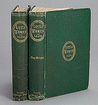 Houghton AC85.Aℓ194L.1869 pt.2aa - Little Women, spines.jpg