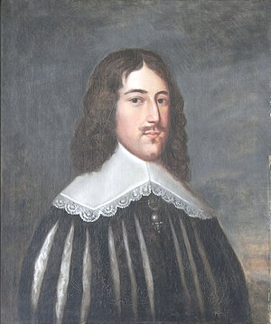 South Molton - Portrait of Hugh Squier (1625-1710), Town Hall, South Molton