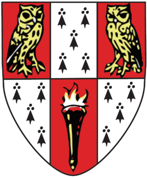 Hughes Hall, Cambridge - Hughes Hall heraldic shield