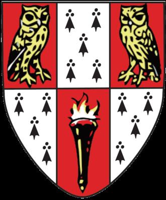 Hughes Hall, Cambridge - Hughes Hall heraldic shield