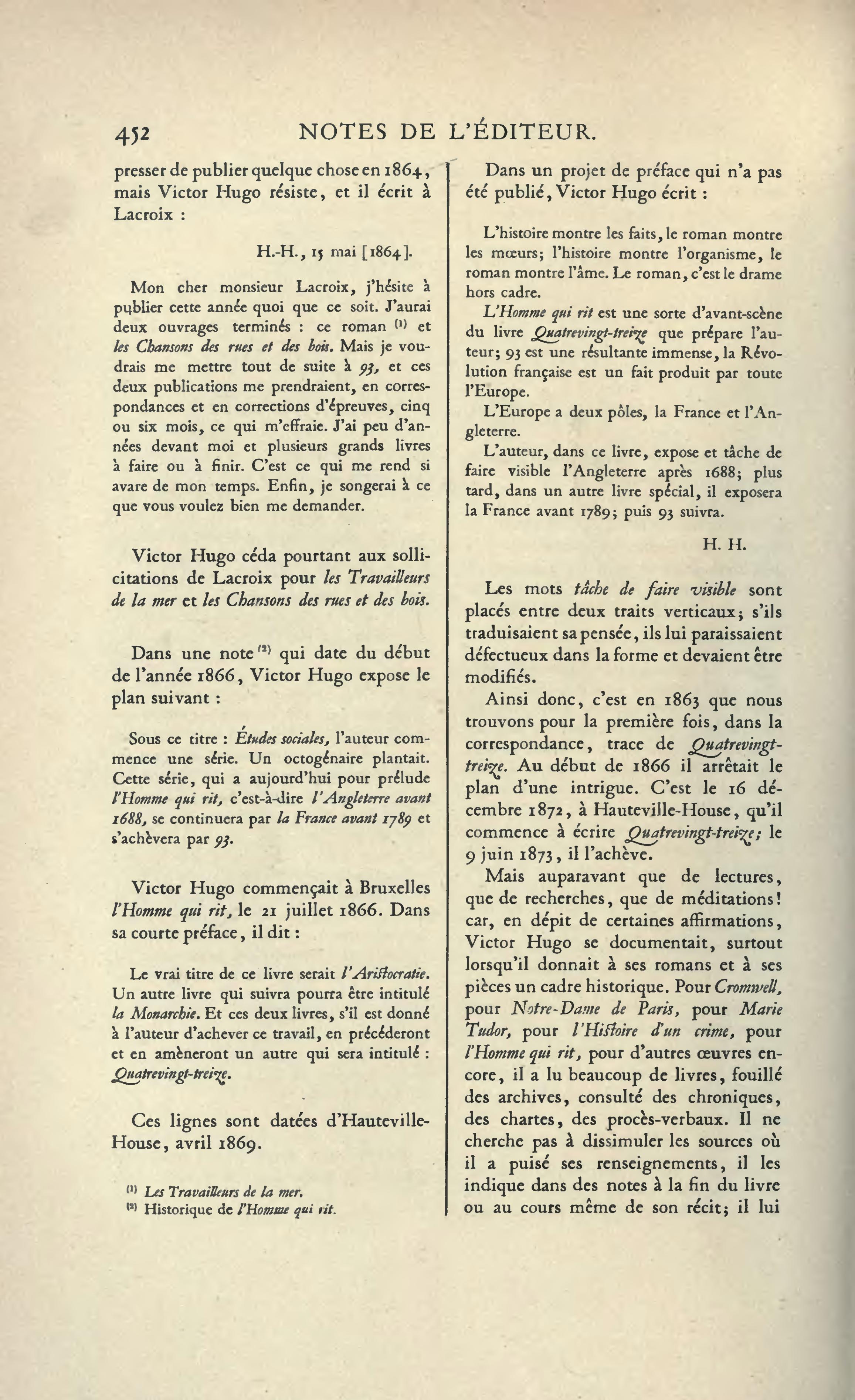 Page Hugo œuvres Complètes Impr Nat Roman Tome Ix