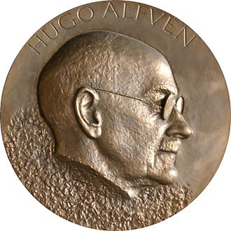 Hugo Alfvén - Hugo Alfvén, plaque at the Stockholm City Hall
