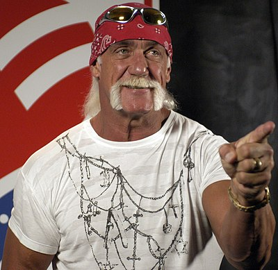 Hulk Hogan, American professional wrestler, actor and television personality
