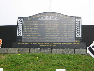 1981 Irish hunger strike - A hunger strike memorial near Crossmaglen, County Armagh.