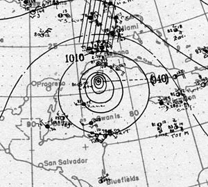 1917 Atlantic hurricane season - Image: Hurricane Four surface analysis 25 Sept 1917