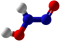 Hyponitrous acid Ball and Stick (Tautomer 2).png