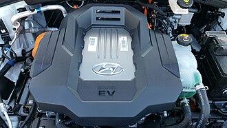 Hyundai Ioniq - Ioniq Electric power control unit on top of the electric motor