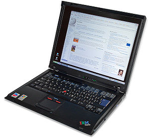 This image shows an IBM Thinkpad R51. The logo...
