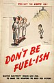 INF3-195 Fuel Economy The worker who left the lights on - don't be fuel-ish (woman factory worker) Artist H M Bateman.jpg
