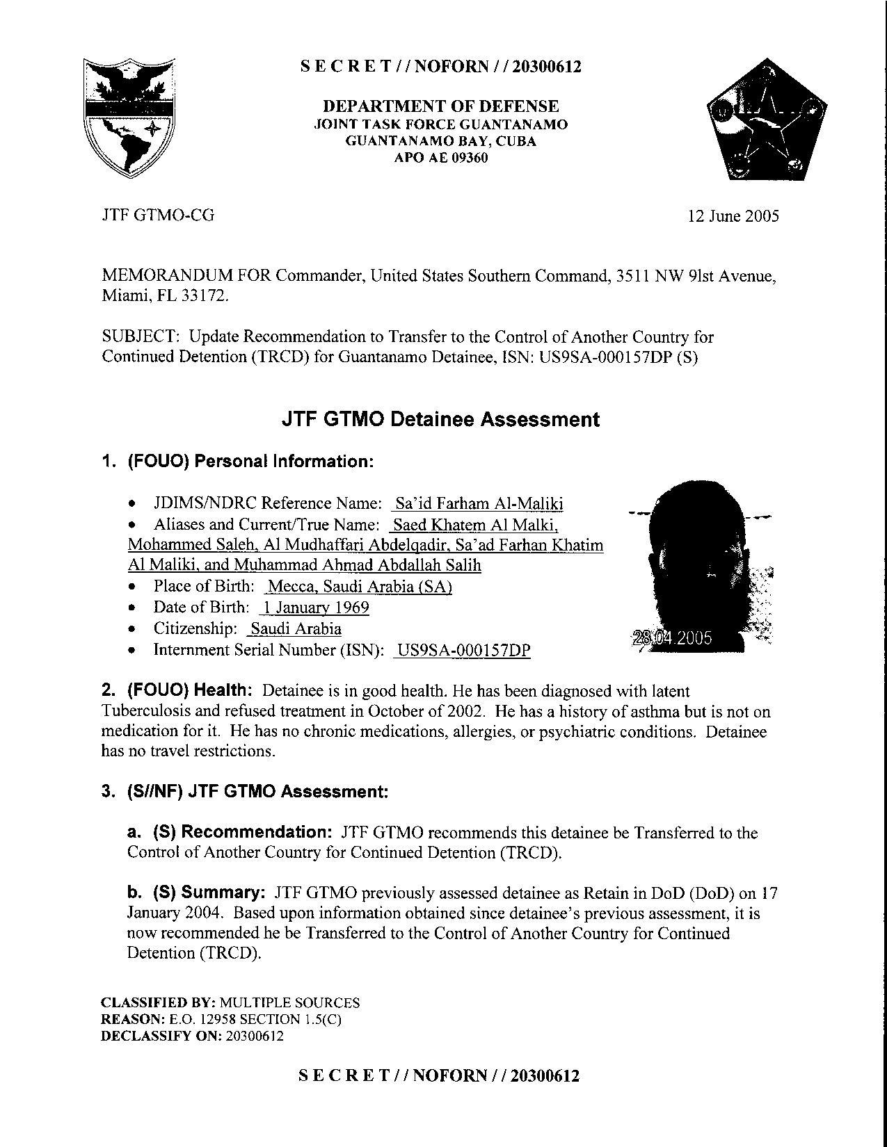 ISN 157's Guantanamo detainee assessment.pdf