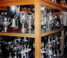 A View Of One The Display Cabinets In Trophy Room At Ibrox 1994