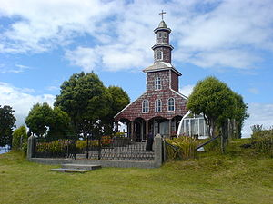 Chiloé Archipelago - This church near Chacao bears evidence of baroque and neoclassical elements introduced by clergy in colonial times.