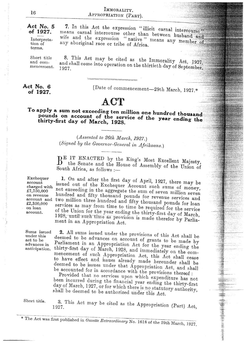 Immorality Act 1927 Page:immorality Act