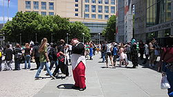 In front of SJ Convention Ctr during FanimeCon 2010-05-30 4.JPG