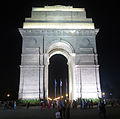 India Gate, New Delhi, India illuminated.jpg