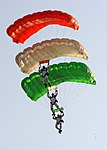 Indian Air Force paratroopers at Air Force Day Parade 2012.jpg