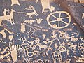 Indian petroglyphs (~100 B.C. to ~1540 A.D.) (Newspaper Rock, southeastern Utah, USA) 24 (22892711741).jpg