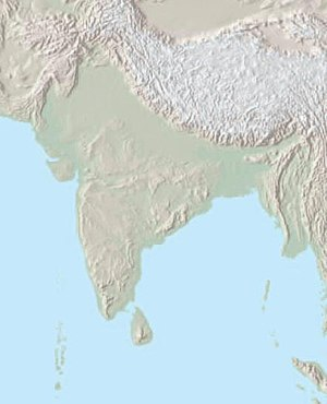 Indian subcontinent - Geographical map of the Indian subcontinent