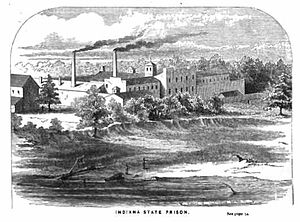 Indiana State Prison - Illustration of Indiana State Prison, 1871