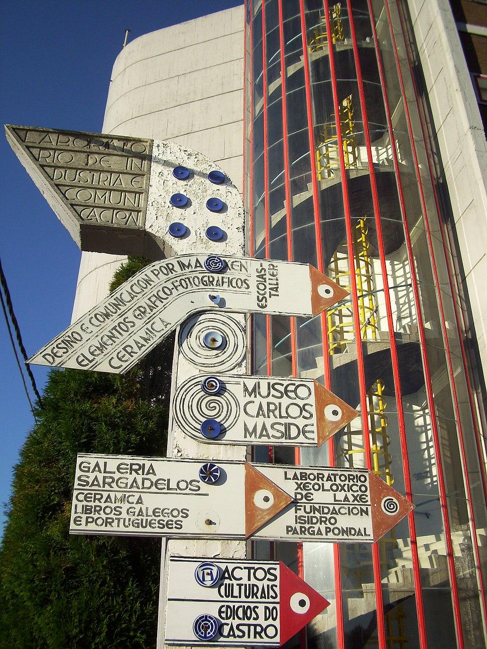 Indicador no complexo de Cerámicas do Castro