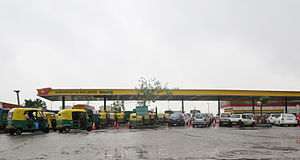 Indraprastha Gas - A CNG filling station of Indraprastha Gas in Delhi
