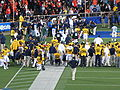 Injury timeout for Jahvid Best at OSU at Cal 2009-11-07 1.JPG