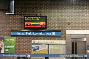 Inman Park / Reynoldstown station - Image: Inman park marta