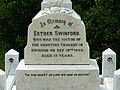 Inscription on the grave of Esther Swinford, Radnor Street cemetery, Swindon - geograph.org.uk - 1496215.jpg