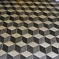 Interieur, begane grond, hal, detail- blokvormige vloerbetegeling - Scheemda - 20341540 - RCE.jpg