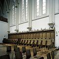 Interieur, overzicht van het koorgestoelte in de abdijkerk - Berkel-Enschot - 20385390 - RCE.jpg