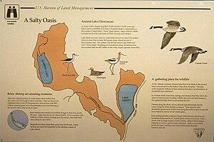Lake Abert - Interpretive sign describing Lake Chewaucan