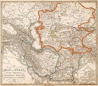 Turan - Image: Iran Turan map 1843
