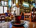 Iraqi tea-Al-Shahbander cafe.jpg