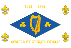William Bernard Hickie - Banner presented to  Major-General Sir William Hickie