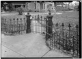 Iron gate (manufactured in Ohio) - Ivinson Mansion, 603 Ivinson Avenue, Laramie, Albany County, WY HABS WYO,1-LARAM,2-12.tif