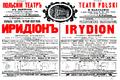 Irydion 1913 playbill Teatr Polski.png