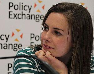 Isabel Hardman - Hardman chairing a Policy Exchange debate, September 2014
